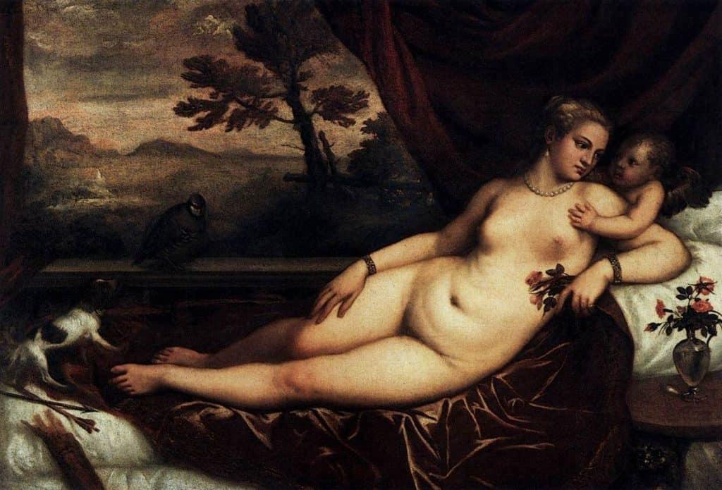 Venus and Cupid - Lorenzo Lotto