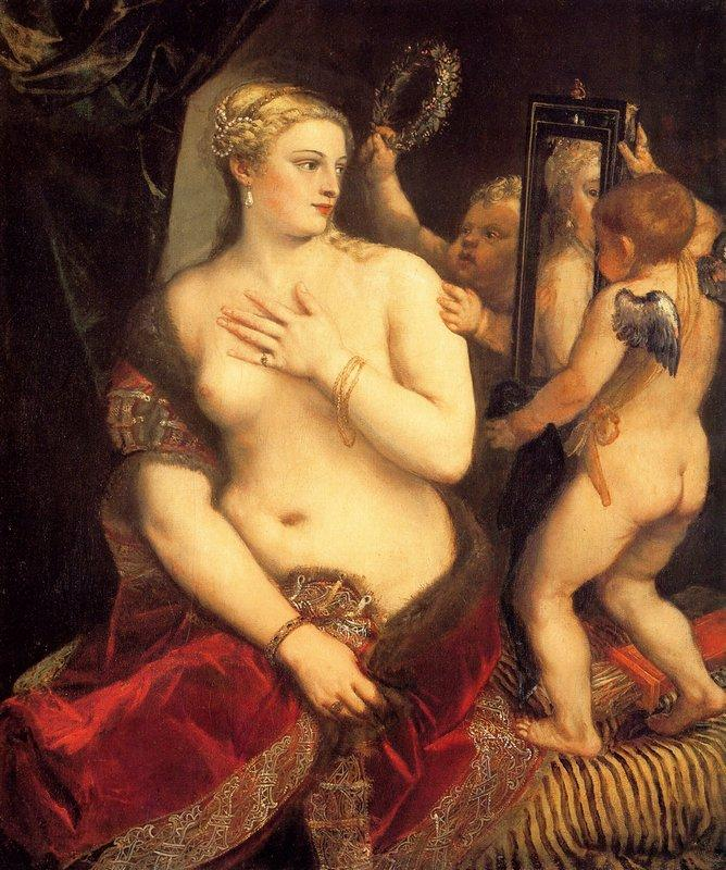 Venus in Front Of The Mirror - Titian