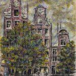 View from Hotel Window, Prinsenstraat Amsterdam, Holland – Ivan Albright