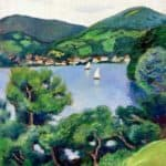 View of Tegernsee – August Macke