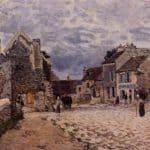 Village Street Grey Weather – Alfred Sisley