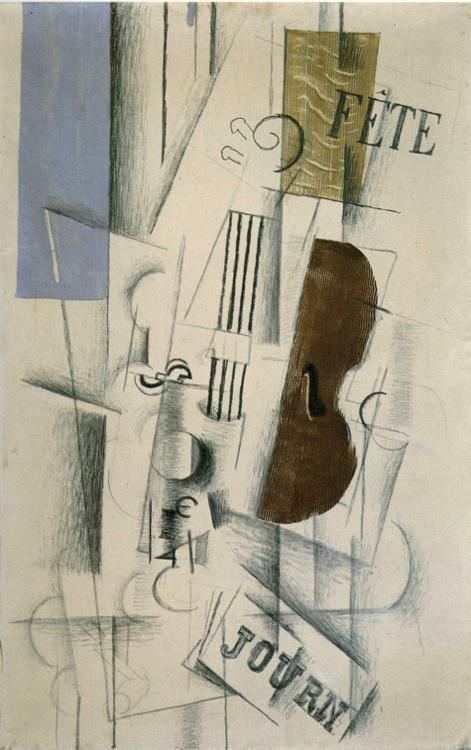Violin and Newspaper (Musical Forms) - Georges Braque