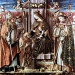 Virgin and Child Enthroned With Saints – Carlo Crivelli