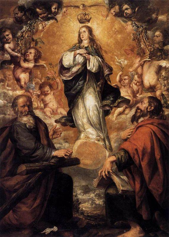Virgin Of The Immaculate Conception With Sts Andrew and John the Baptist - Juan de Valdes Leal
