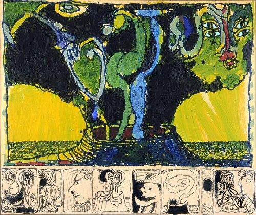Volcan Ensorcele - Pierre Alechinsky-1974