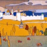 Walled City in Autumn Landscape –  Wassily Kandinsky
