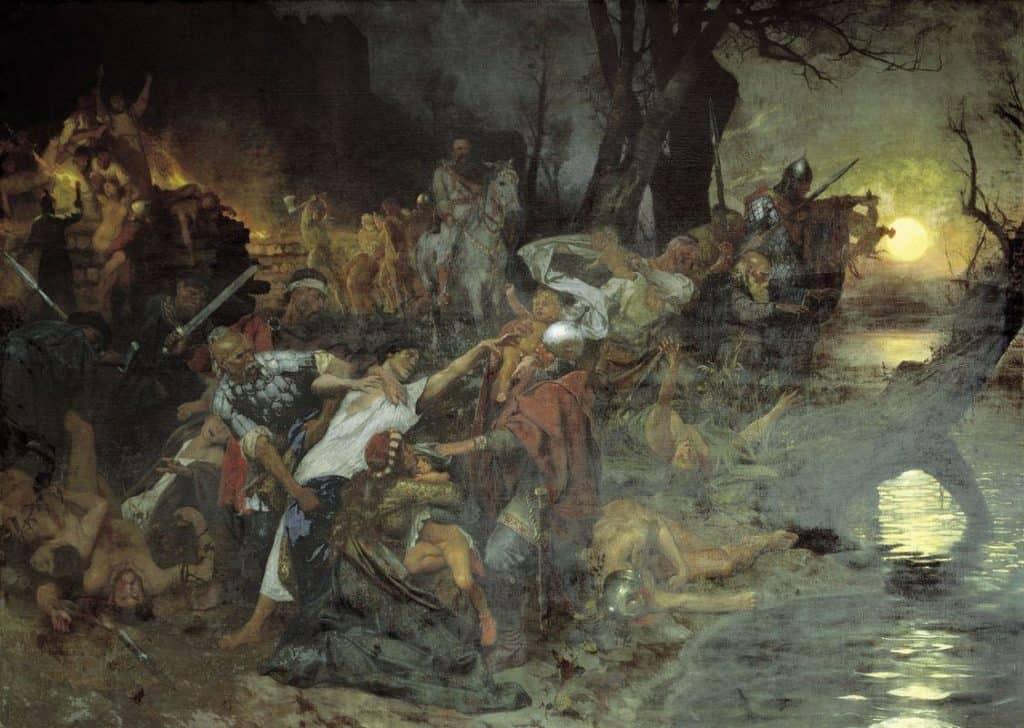 Warriors in the Battle of Silistria - Henryk Siemiradzki