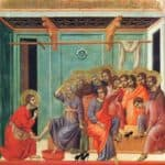 Washing of feet – Duccio