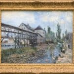Watermill near Moret by Alfred Sisley – Alfred Sisley