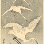 White Birds in Snow – Ohara Koson