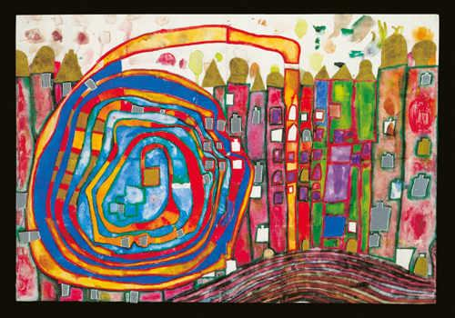 970 Who Has Eaten All My Windows - Friedensreich Hundertwasser