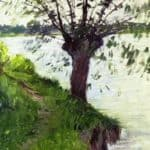 Willow on the Banks of the Seine – Gustave Caillebotte