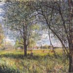 Willows in a field afternoon – Alfred Sisley