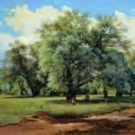 Willows Lit Up by the Sun – Ivan Shishkin