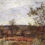 Windy Day At Veneux – Alfred Sisley
