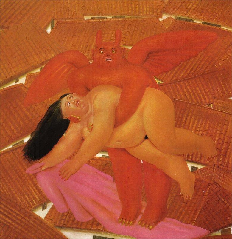 Woman Abducted By The Demon - Fernando Botero
