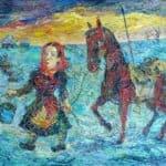 Woman with a horse – David Burliuk