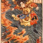Yamamoto Takeru no Mikoto between burning grass – Utagawa Kuniyoshi