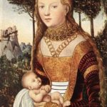 Young Mother With Child – Lucas Cranach the Elder