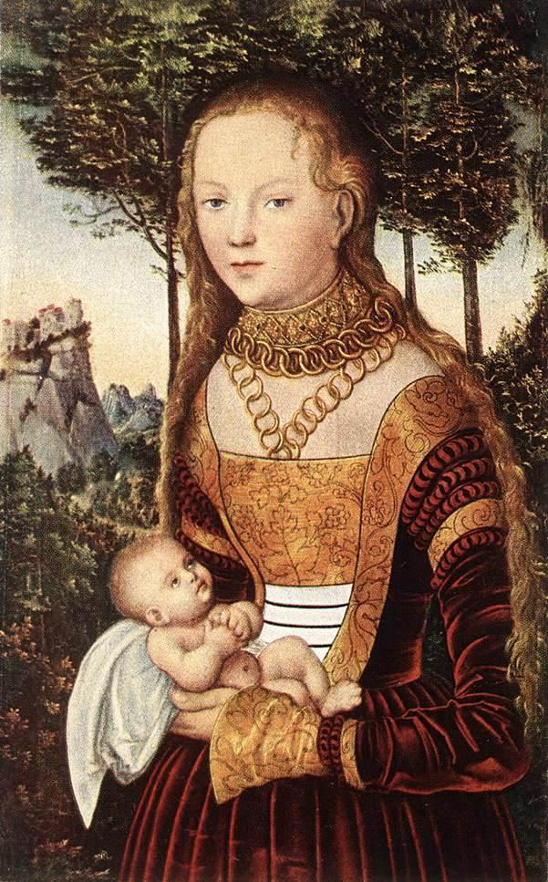 Young Mother With Child - Lucas Cranach the Elder