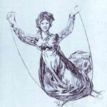 Young Witch Flying with a Rope – Francisco Goya