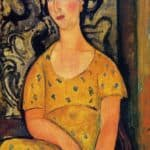 Young Woman in a Yellow Dress (Madame Modot) – Amedeo Modigliani