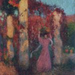 Young Woman in Vigne Vierge Rouge – Henri Martin
