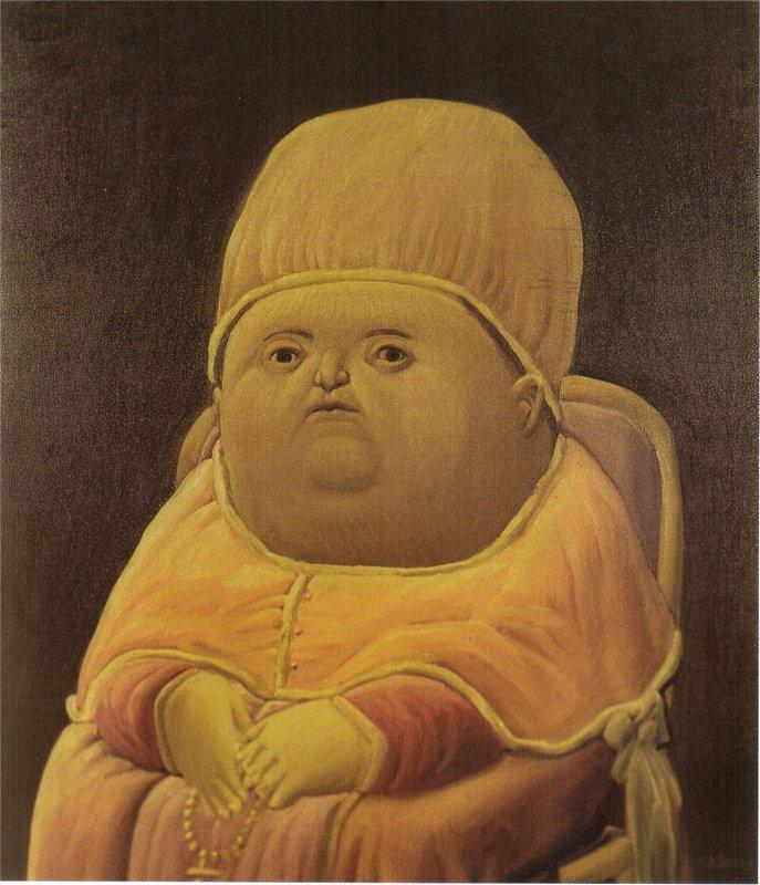 Pope Leo X (after Raphael) - Fernando Botero
