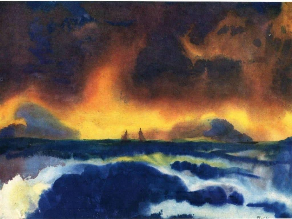 Stormy sea - Emil Nolde