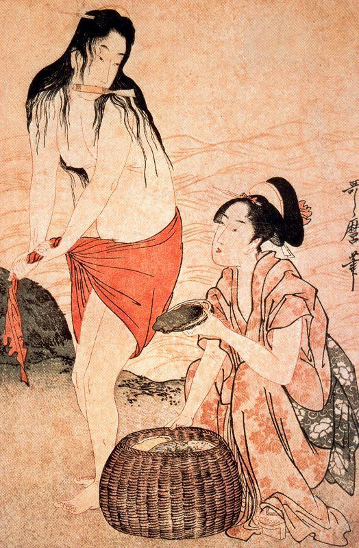 Girls Pearl Divers - Kitagawa Utamaro