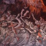 The Clowns of War Arguing in Hell - Jose Clemente Orozco