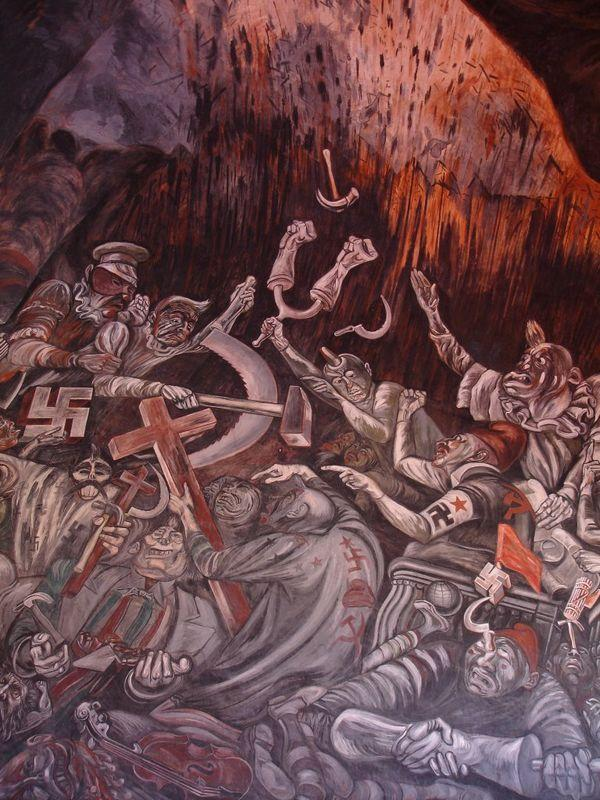 The Clowns Of War Arguing In Hell – Jose Clemente Orozco